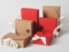silk ribbon kraft boxes gift packaging