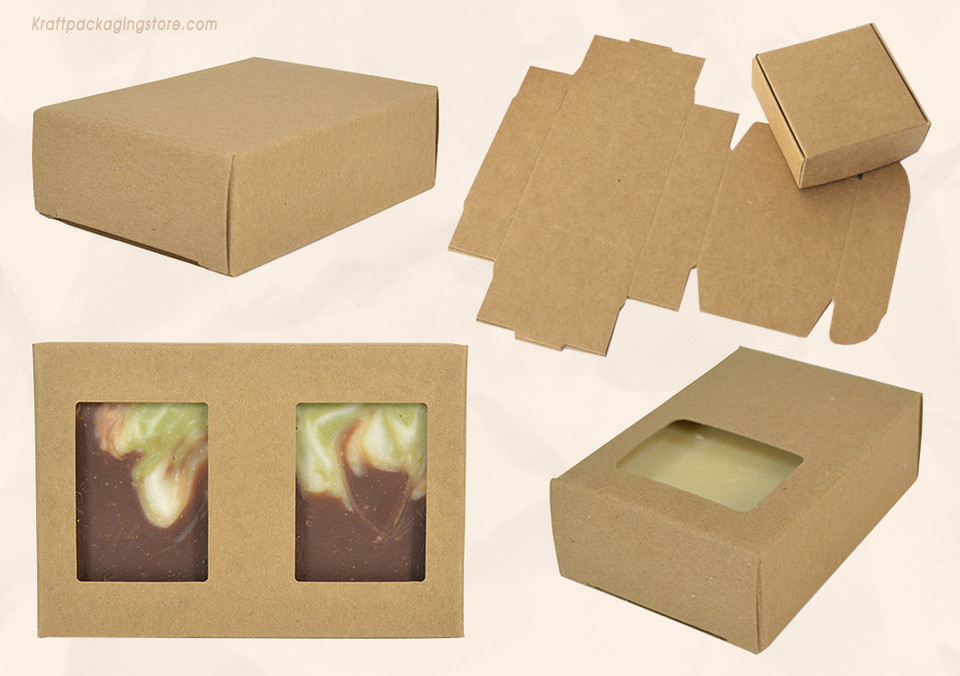 Plain Kraft paper soap boxes wholesale