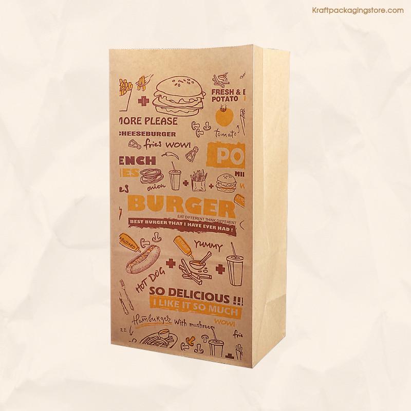 Brown kraft coffee bags with custom printing