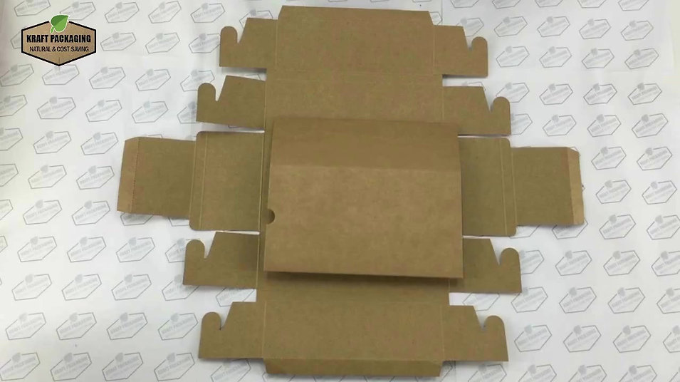 Learn how to fold Kraft paper slide drawer box