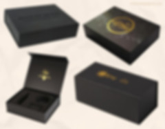 Black kraft paper cardboard magnetic gift boxes