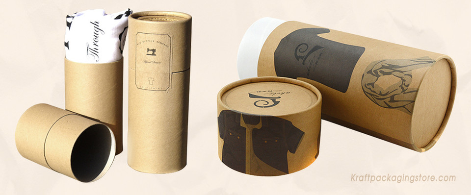 Paper cardboard tube for T-shirt jeans packaging