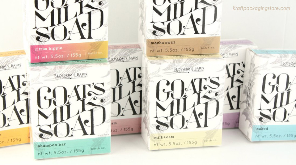 White paper printed paper soap box packaging