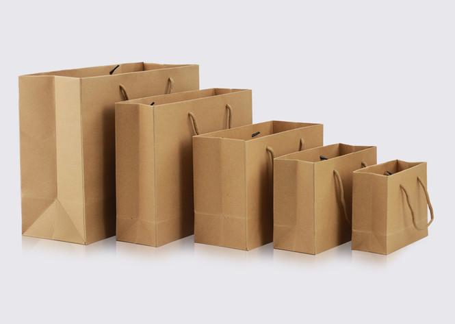 Rope handle Brown paper bag store