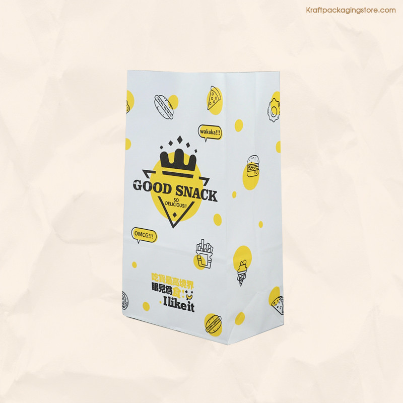 Custom printing white goodies bags wholesale