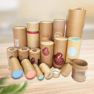Custom kraft cardboard tubes packaging boxes