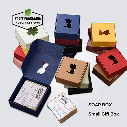 Colorful Paper Soap Boxes With Die Cut Window (No Film)