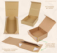 Foldable rigid cardboard kraft magnetic boxes