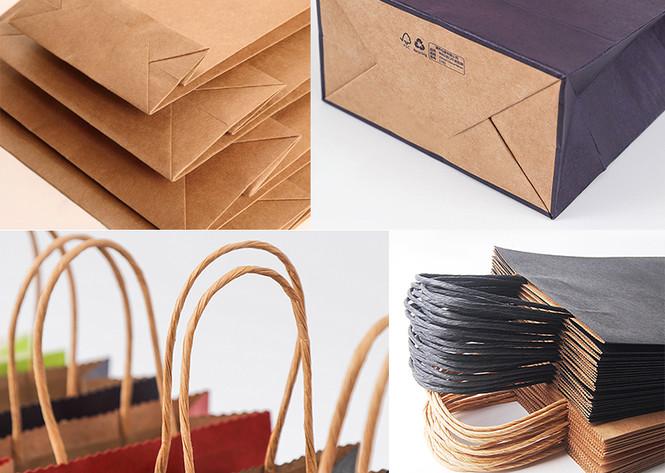 Paper string handle Kraft paper bag