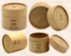 Kraft cardboard candle tube packaging holder