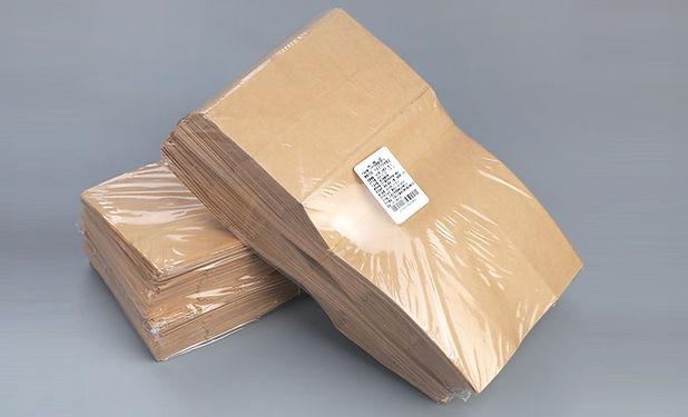 Kraft paper food bags with plastic packaging