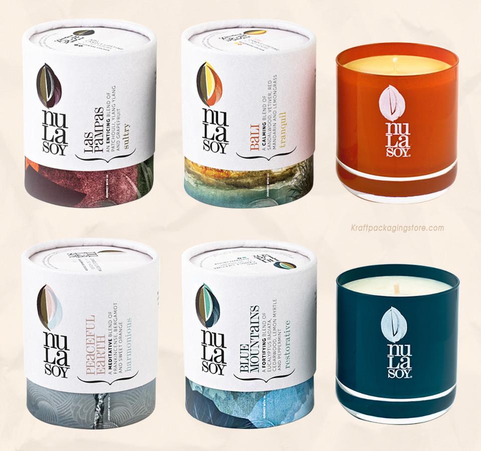 custom cardboard candle tube boxes packaging