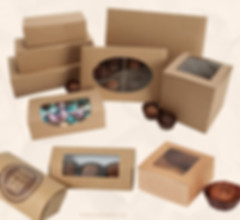 Kraft truffle boxes wholesale