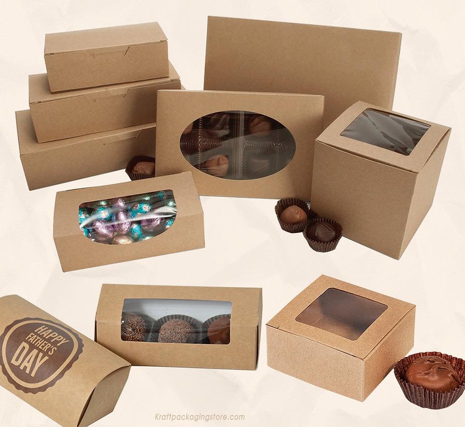 Kraft truffle boxes wholesale