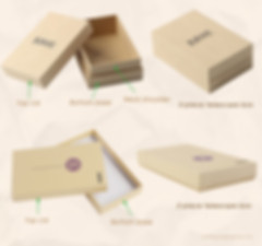 2 types of custom Kraft rigid telescoping gift boxes