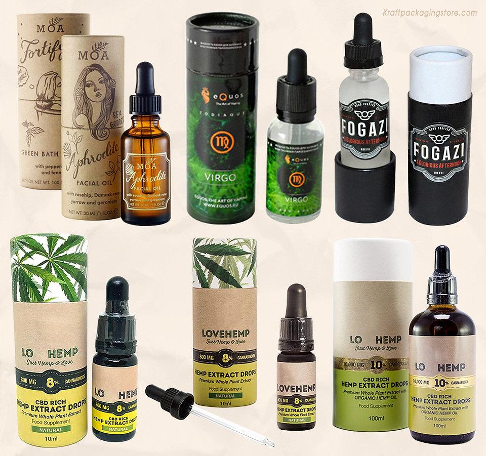 Paperboard essential oil tube packaging