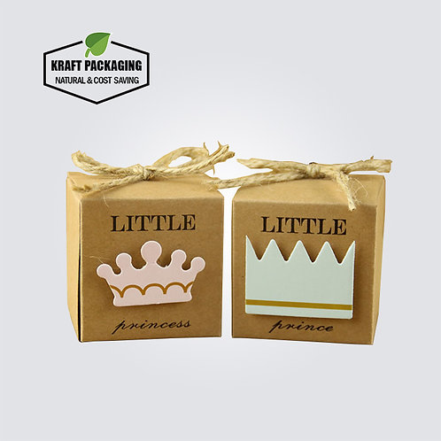 Small Brown Kraft Birthday Party Favor Boxes Wholesale