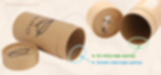 Cardboard paper tube with different open edge