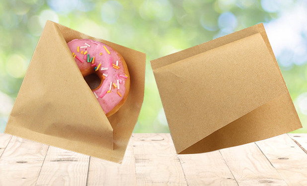 Triangular Shaped small Kraft paper food bags