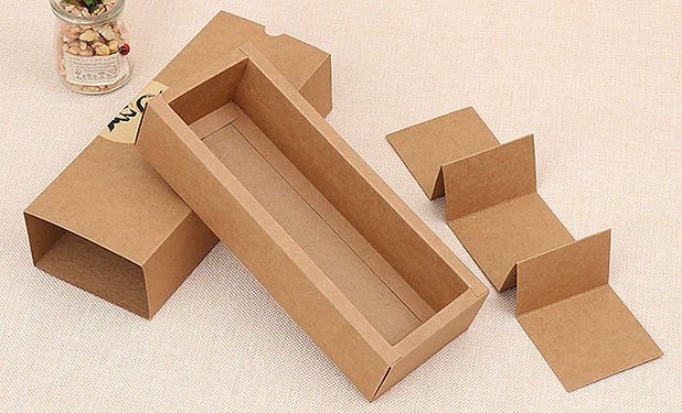 kraft drawer box with paperboard insert