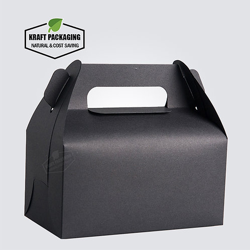BLACK Gable Boxes for Baking Food Gift Packaging Wholesale
