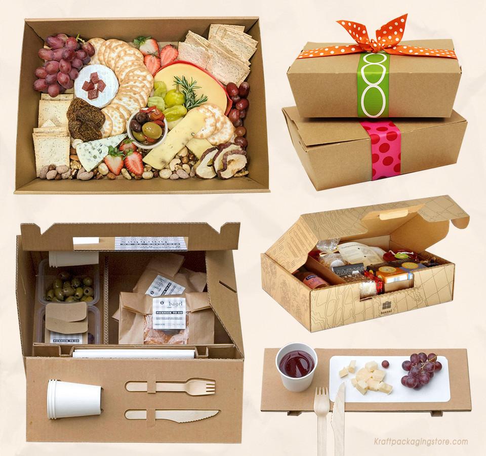 Kraft picnic boxes
