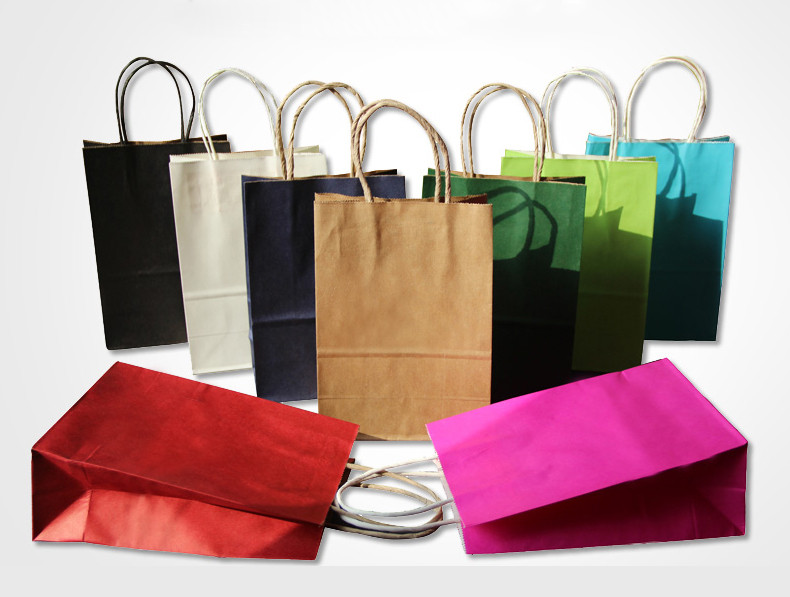Various sizs coloured paper bags