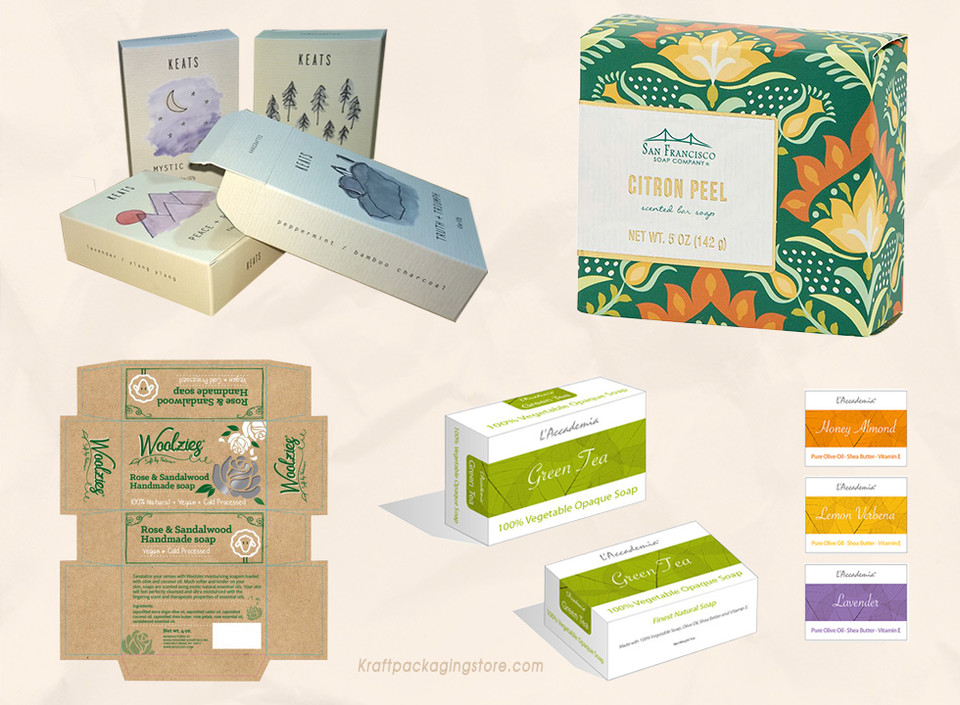 Custom soap boxes designing and dieline