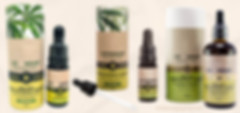 Cardboard tube packaging for essential oil bottles