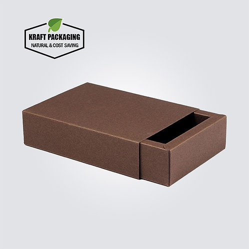 Coffee Color Kraft Paper Slide Drawer Box Packaging
