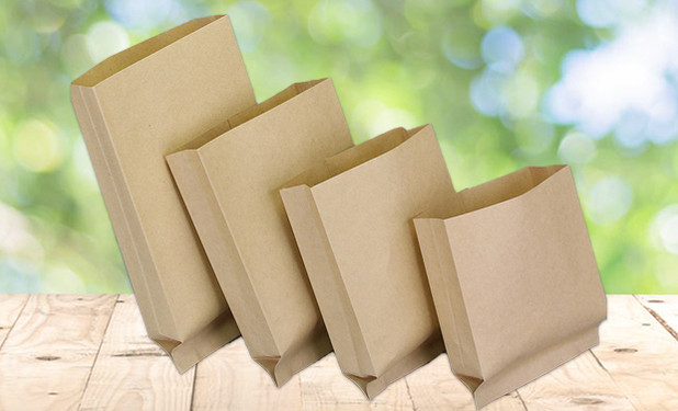 4 sizes Greaseproof small brown paper bags