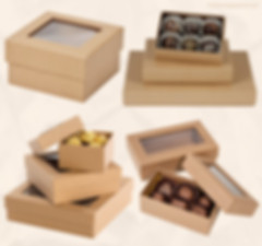 Custom rigid kraft gourmet gift box with window