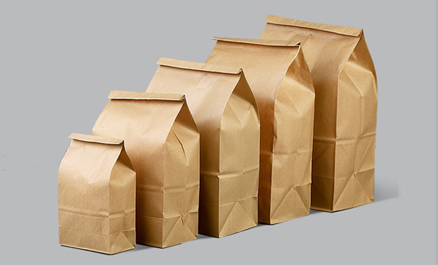 Kraft paper bakery food bags with various size