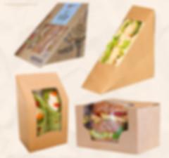 Kraft sandwich boxes