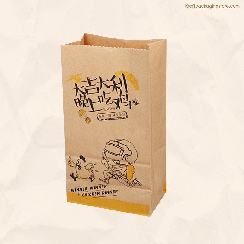 Customizing brown recycled kraft food packaging bags