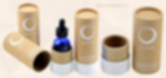 Essential oil bottle pack kraft paper packaging tubes