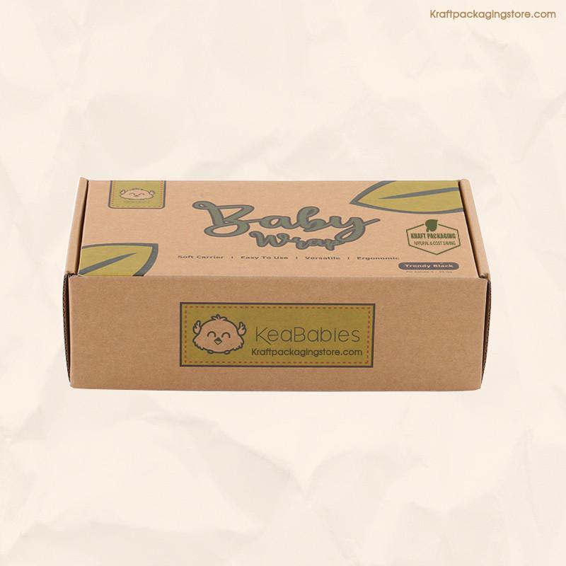Custom flexo print kraft mailer box