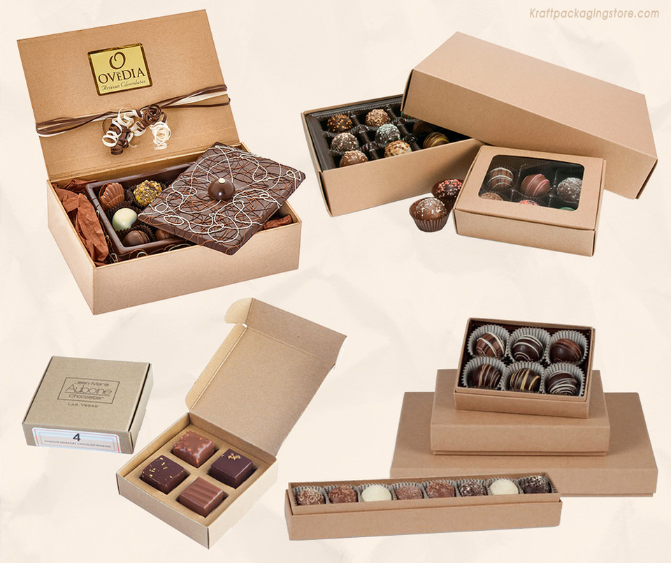 Kraft chocolate boxes