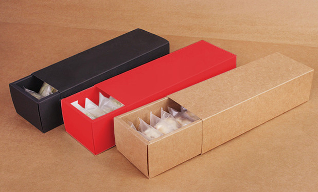 kraft drawer box for small packs cookies
