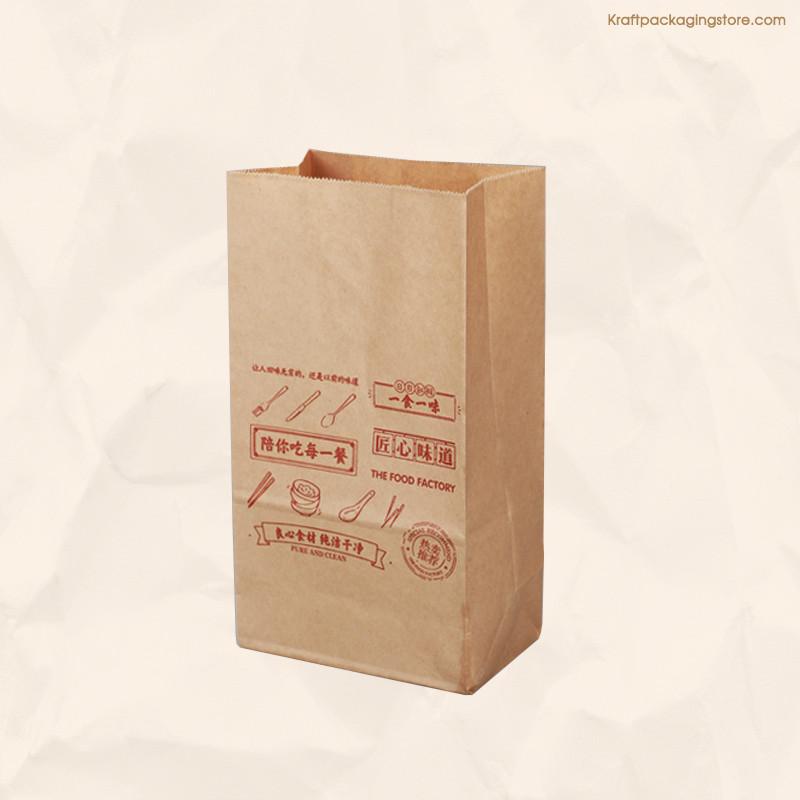 Brown Kraft recycled groceries food bags