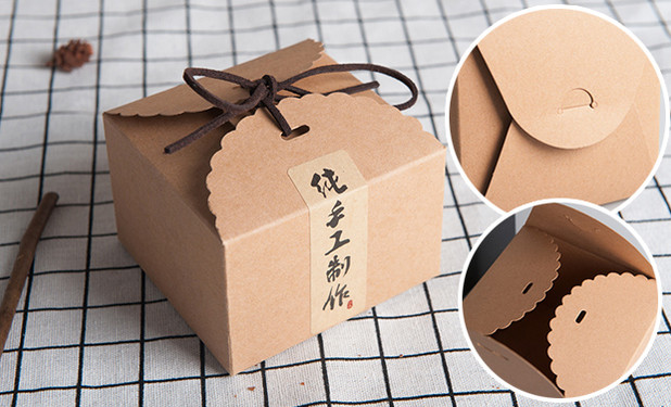 Kraft paper candy and cookie boxes packaging