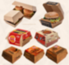 Custom printed Kraft burger boxes