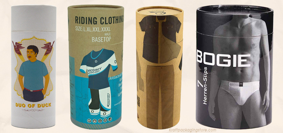 Paper cardboard cylinder tubes packaging for T-shirt clothes