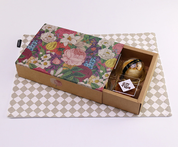 Kraft drawer box style printed Kraft paper cake gift boxes wholesale