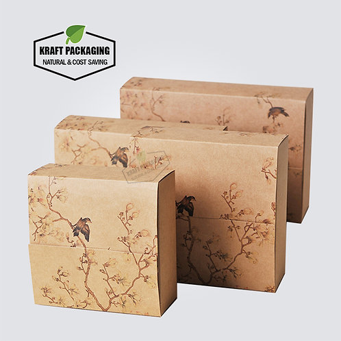 Kraft paper Printed gift box packaging wholesale in 4 sizes