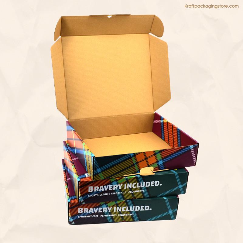 Brown Kraft printed custom mailer box