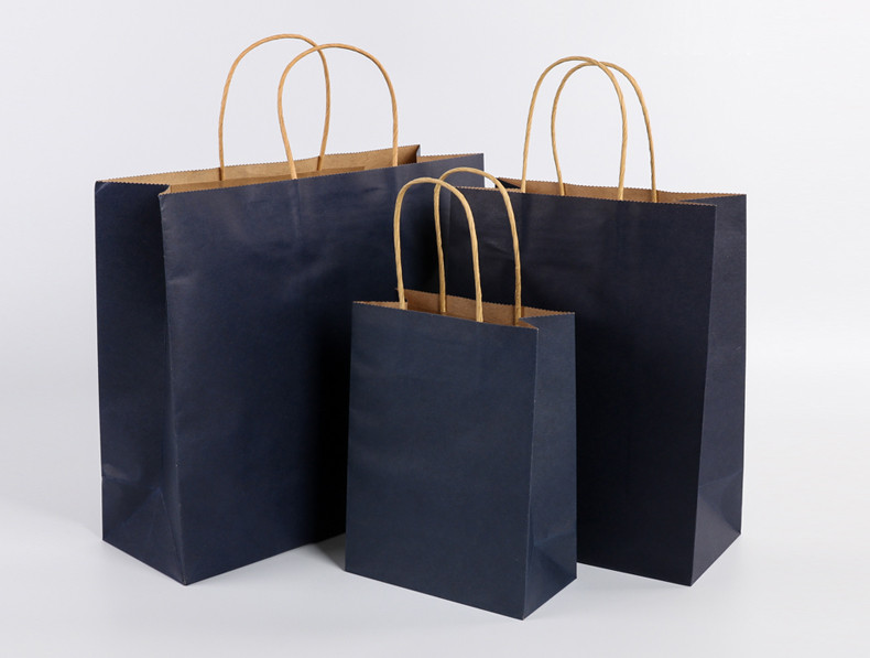 Paper string handle Kraft paper bags