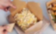 Kraft paper fast food takeaway packaging