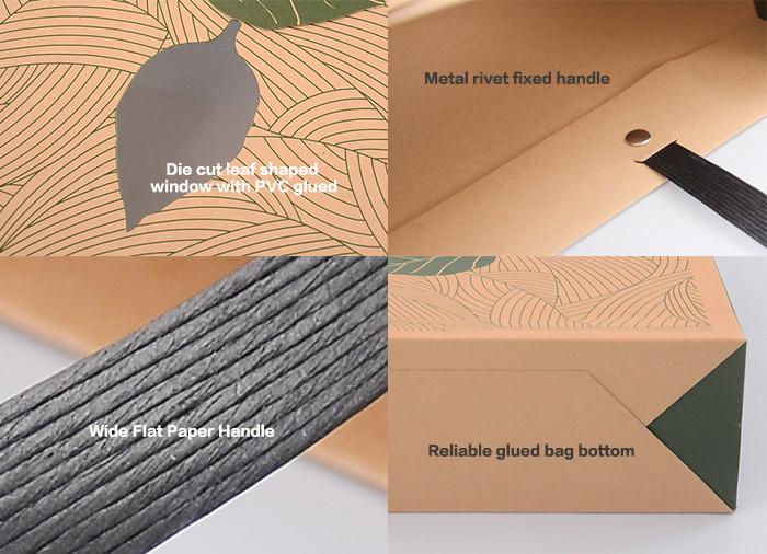 Details of Brown Kraft printed paper gif
