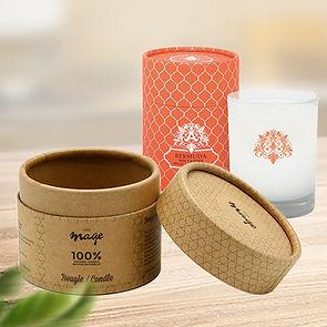 Custom cardboard candle tube packaging boxes